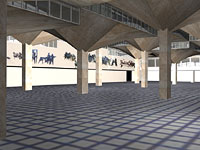 Early image from Graham Chaplins computer model of Queensgate Market